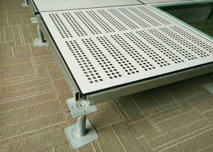 Cleaning Room Perforated Raised Floor Panels 600 600mm All Steel 9 -13 Kgs