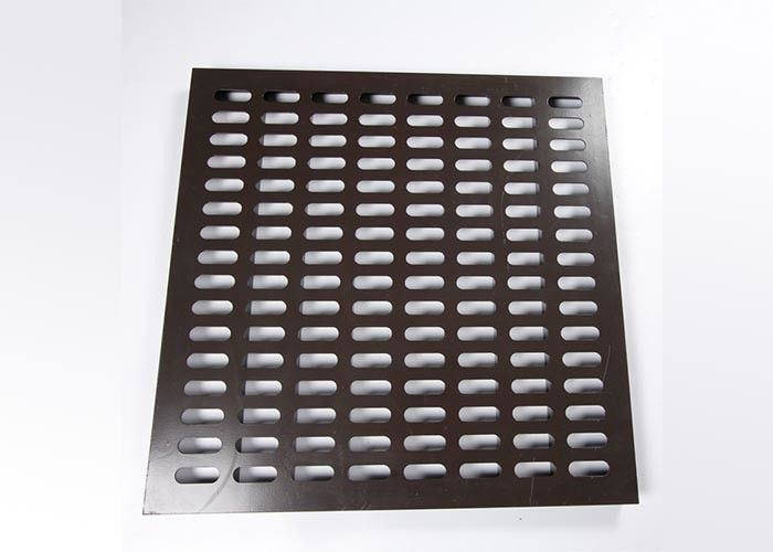 Durable All Steel Raised Floor Perforated Tiles 600 × 600 Mm 10 CM Pedestal Height