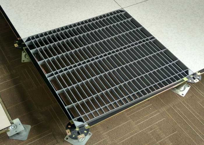 Laboratories Perforated Floor Tiles  Steel Grating Raised Floor Welding Process